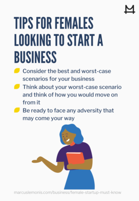 List of tips for females looking to start a business