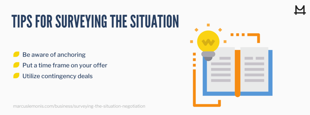 Three tips for surveying the situation