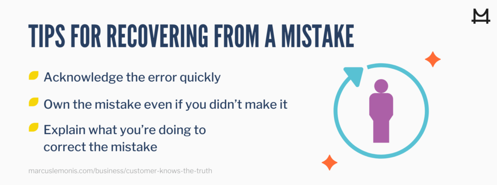 Tips for Recovering From a Mistake