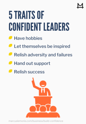 List of traits that confident leaders have.