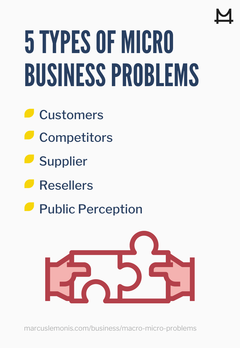 List of the types of micro business problems.