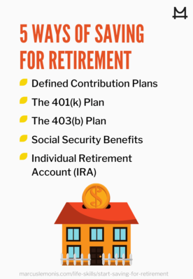 The various types of retirement funds.