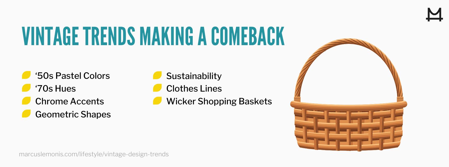 List of vintage trends making a comeback.
