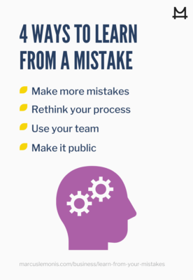 List of ways to learn from a mistake.