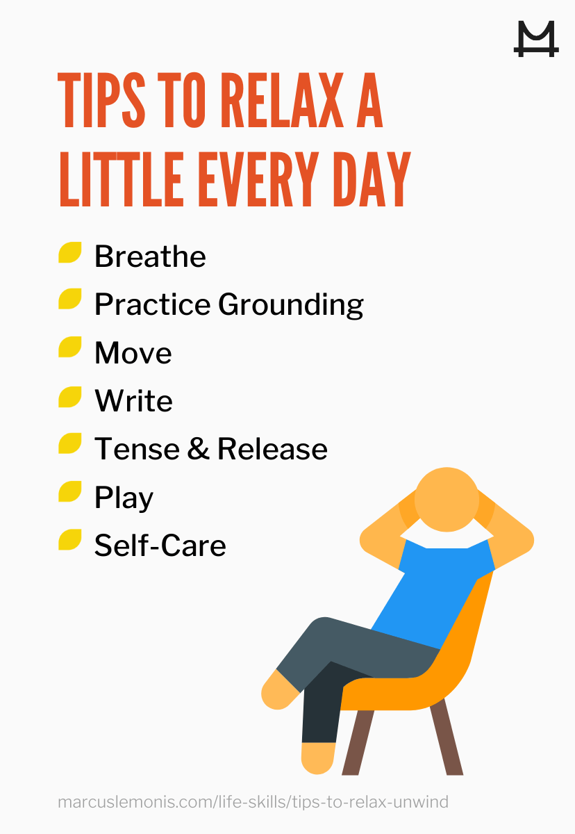 List of ways to relax.