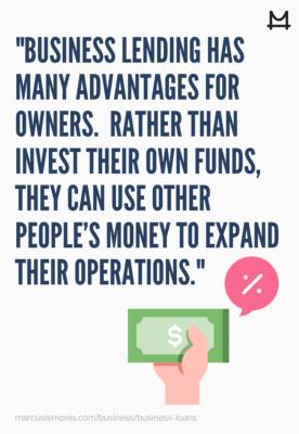 Explanation for Business Lending