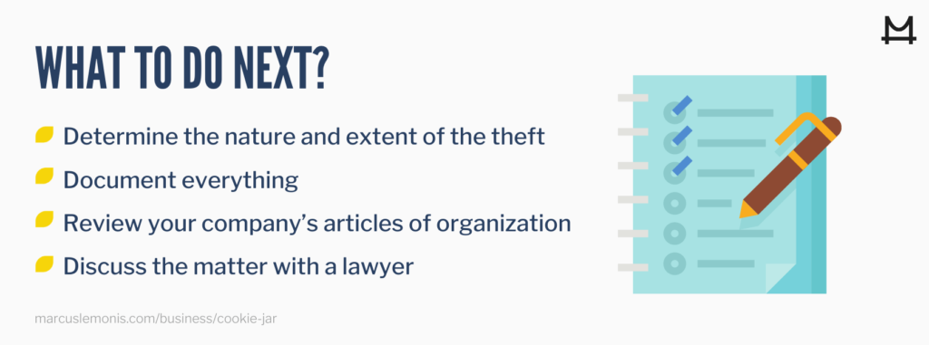 List of things to do after a business theft.