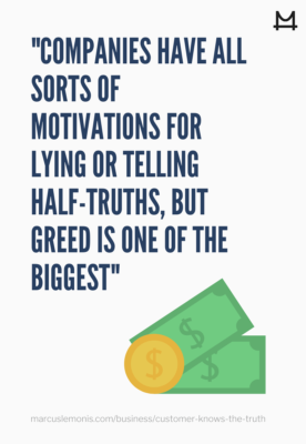 List of Reasons Why Companies Lie