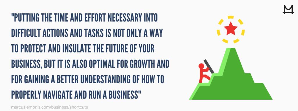 Reason why you shouldn't take shortcuts.