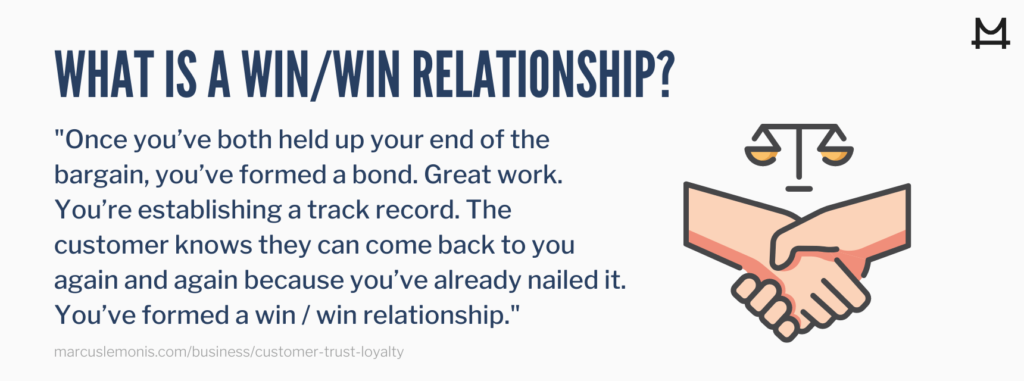 he definition of win / win relationships.