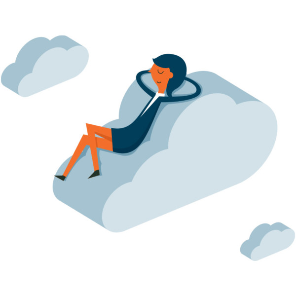 Image of Woman on Cloud