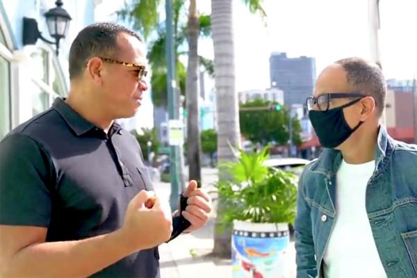 Alex rodriguez and Marcus lemonis in Miami