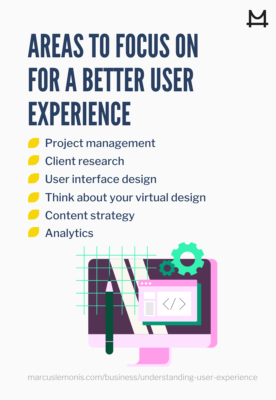 areas to focus on for a better user experience