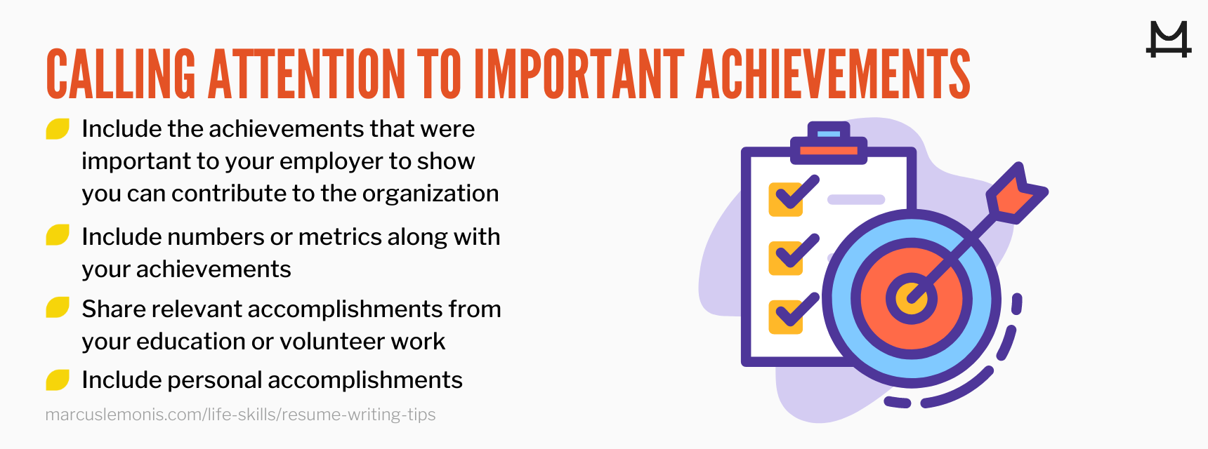 List of ways you can call attention to your important achievements