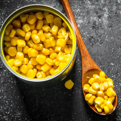 Image of a can of corn