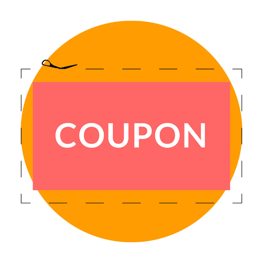 graphic of general customer coupon cutout