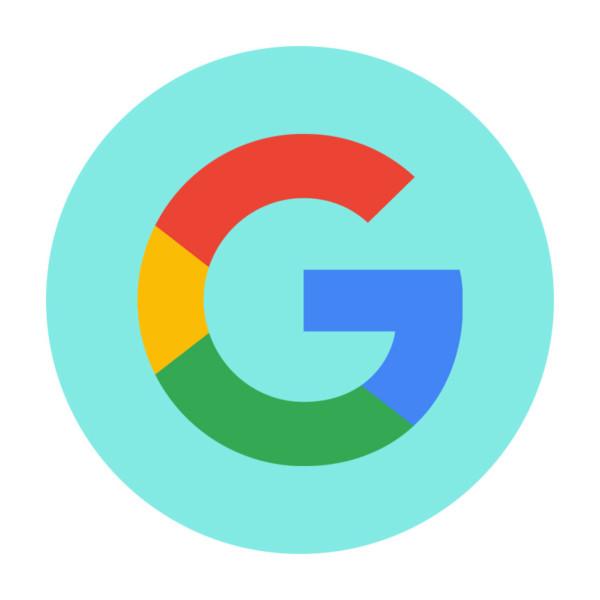 Google logo on a blue backdrop