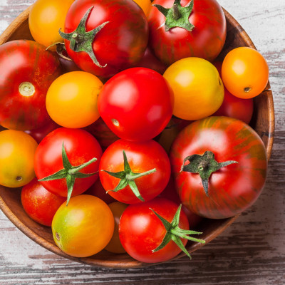 Image of tomatoes in a bowl