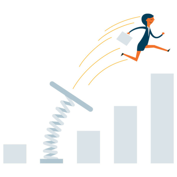 women jumping up representing improving your net promoter score