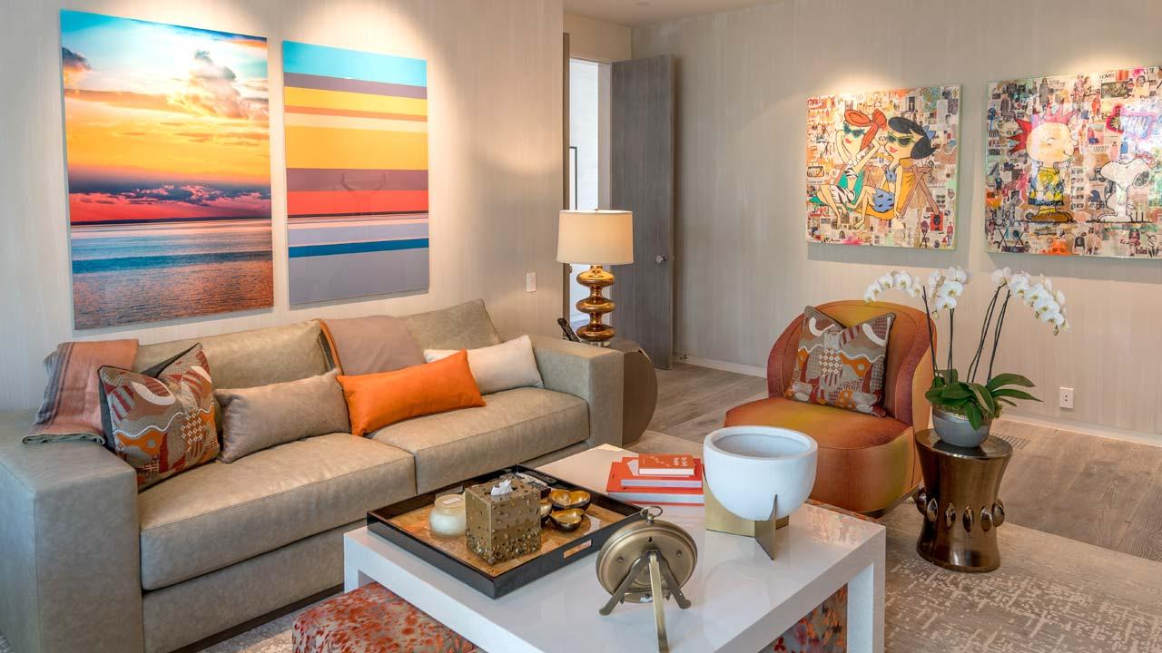 Photo of living room setup