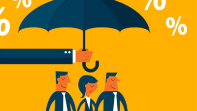 3 people under an umbrella representing net promoter score