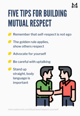 List of tips for building mutual respect.