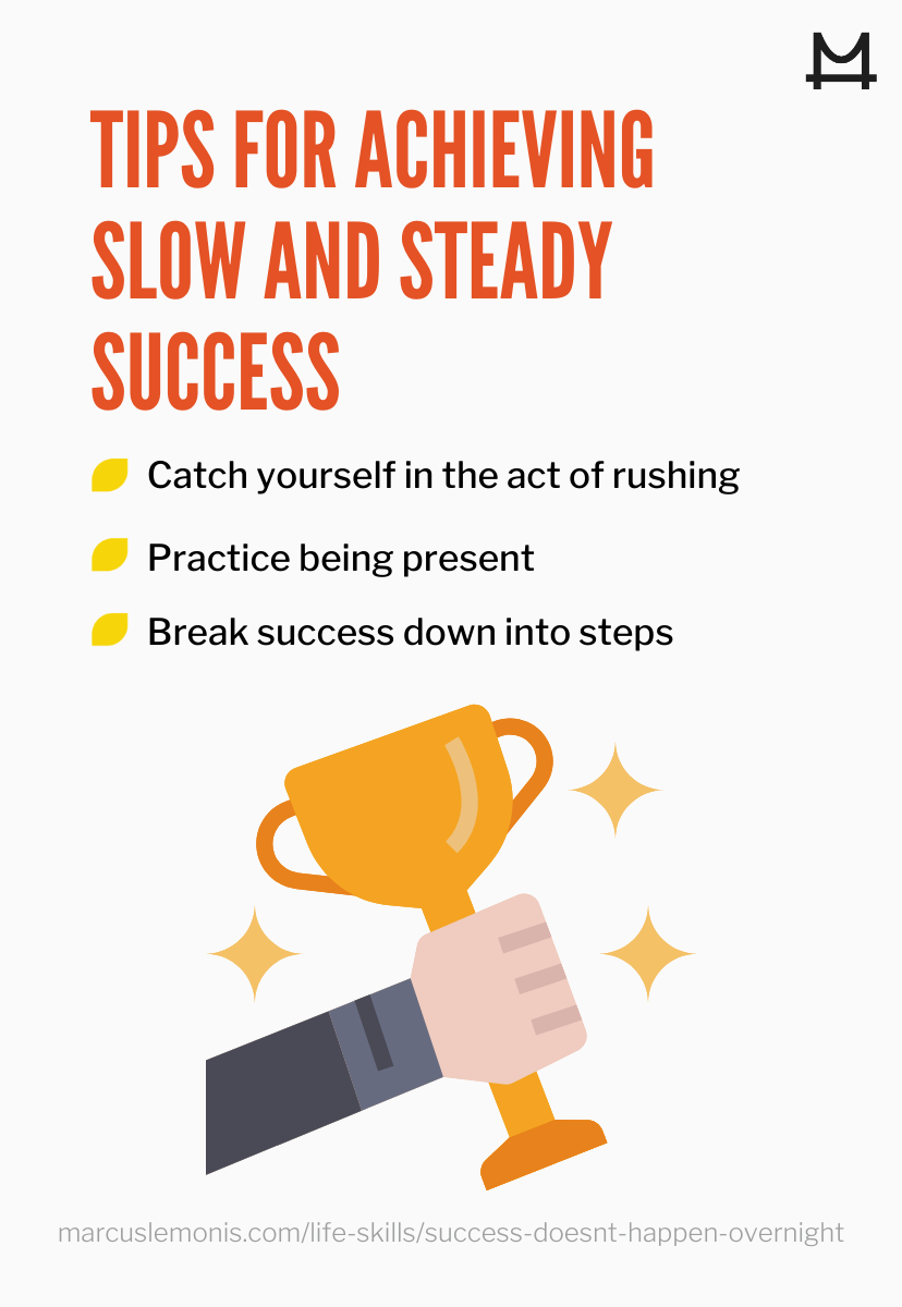 graphic outlining tips for achieving success