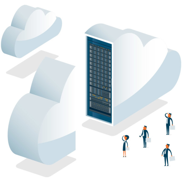 Image of a giant cloud server.