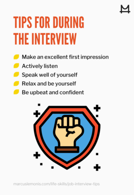 graphic outlining during job interview tips