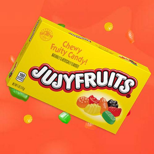Jujyfruits candy box