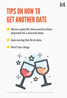 graphic on getting another date after your first date