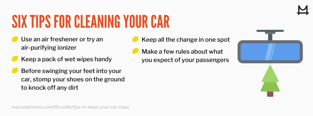 Six tips for cleaning your car