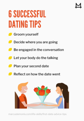 graphic on successful first date tips