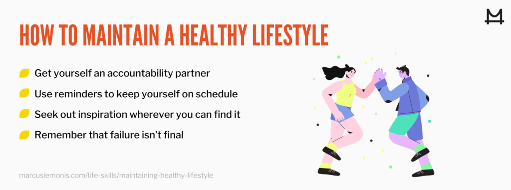 List of ways to maintain a healthy lifestyle