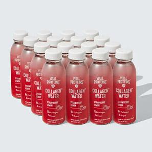 bottles of vital collagen water