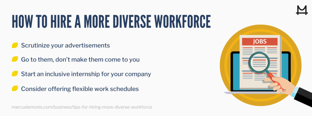 List of ways to hire a more diverse workforce