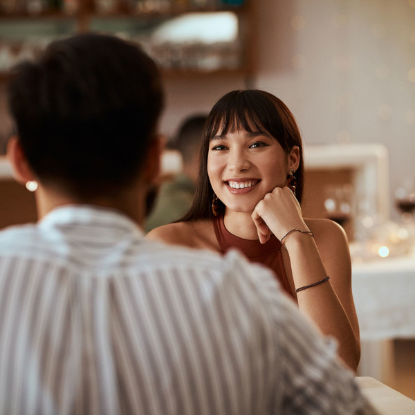 Image of a woman on a date.