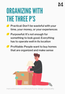 Infographic of 3P's of home design