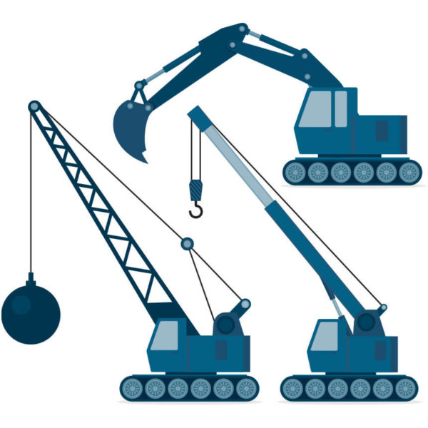 Image of various construction vehicles