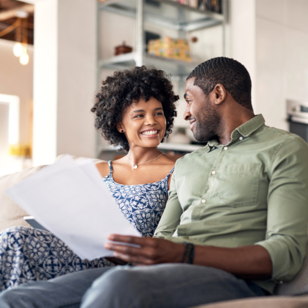 Image of man and women planning home designs