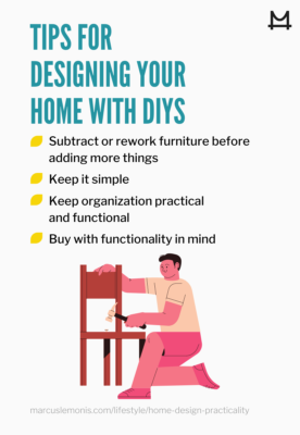 Infographic of DIY Home design tips