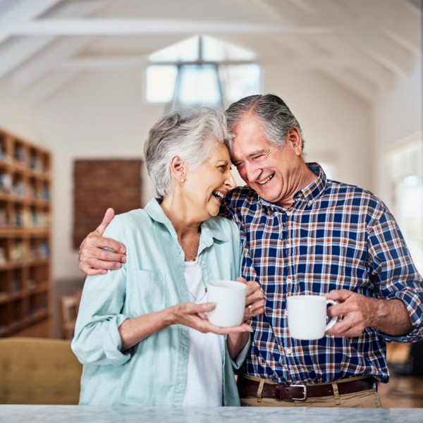 older couple enjoying their fruits from having maintained a relationship