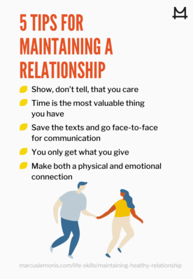 graphic sharing tips to maintain a relationship