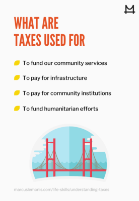 Graphic to understand taxes and their use