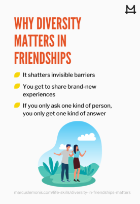 List of reasons why diversity matters in friendships