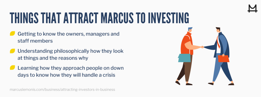 Image of things that attract marcus to investing