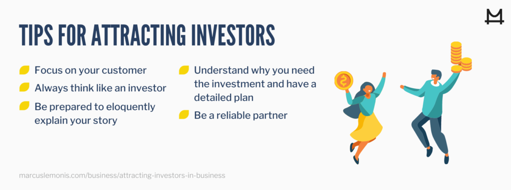 Image of tips for attracting investors