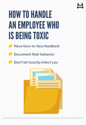 image of how to handle an employee who is being toxic