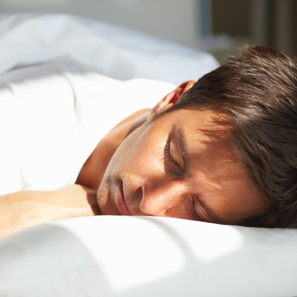 Image of man sleeping
