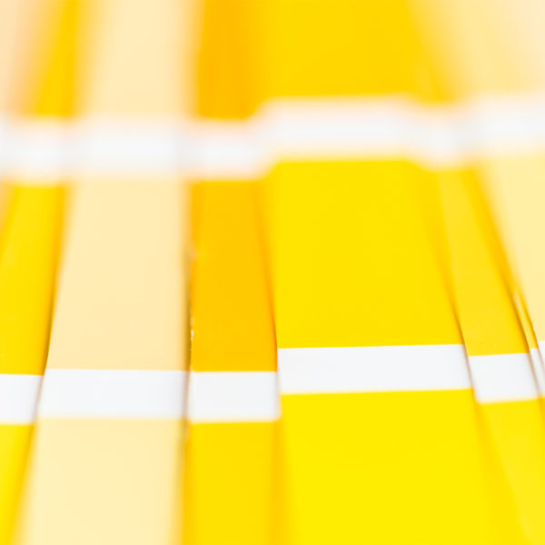 Image of yellow color swatches